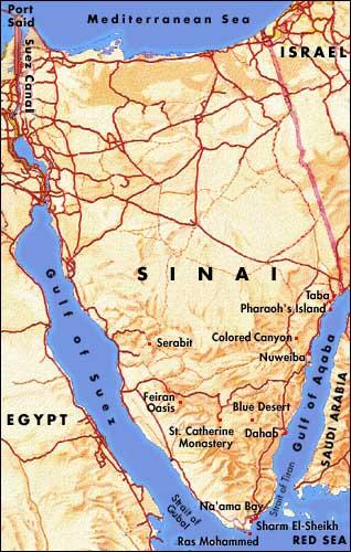 Karte ägypten Sharm El Sheikh.ägypten Sinai Coloured Canyon Mosesberg Bergtouren